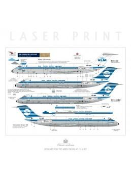 KLM (Horizontal stripes) - Douglas DC-9-15/32/33RC
