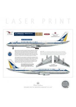 UAT Aeromaritime - Douglas DC-8-32 (Light blue delivery scheme)