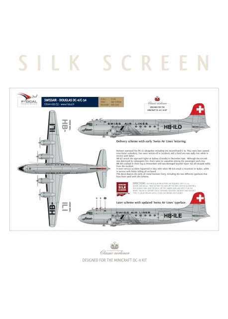 Swissair (Bare metal) - Douglas DC-4