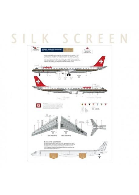 Swissair (Chocolate) - Douglas DC-8-62