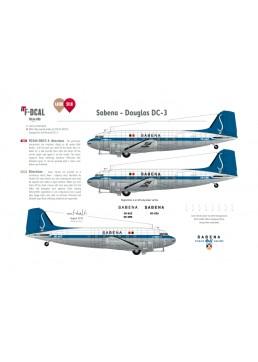 Sabena - Douglas DC-3 (Last scheme))