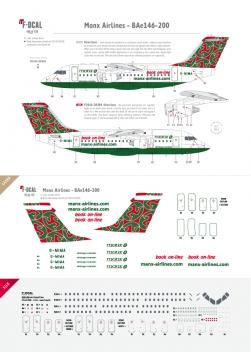 Manx Airlines (dernière livrée) - BAe146-200