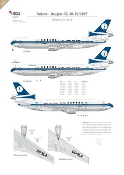 Sabena - Douglas DC-10-30 (Delivery scheme)