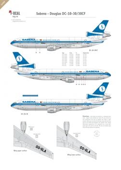 Sabena - Douglas DC-10-30 (Second scheme)