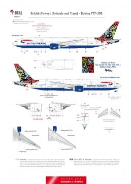 British Airways - Boeing 777-200 (Animals and Trees)