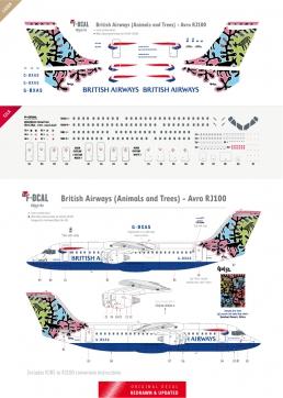 British Airways - RJ100 (Animals and Trees)