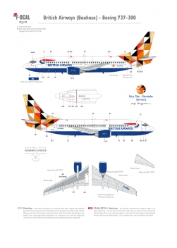 British Airways (Bauhaus) - Boeing 737-300