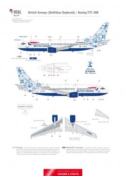 British Airways (Delftblue Daybreak) - Boeing 737-300