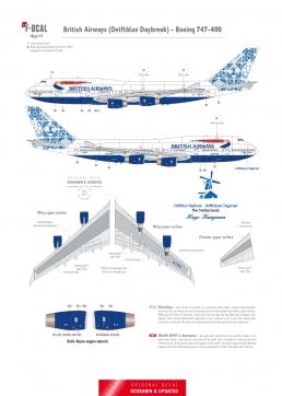 British Airways - Boeing 747-400 (Delftblue Daybreak)