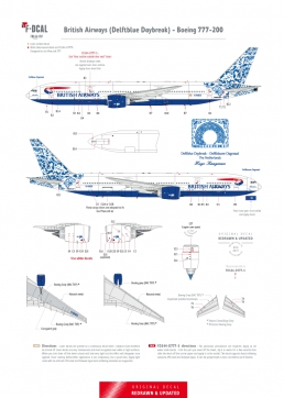 British Airways - Boeing 777-200 (Delftblue Daybreak)