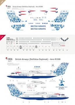 British Airways - RJ100 (Delftblue Daybreak)