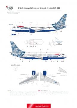 British Airways (Nami Tsuru) - Boeing 737-300/400