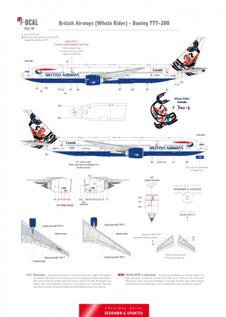 British Airways - Boeing 777-200 (Whale Rider)