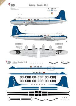 Sabena - Douglas DC-4 (Last scheme)
