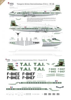T.A.I. - Douglas DC-6B (Last scheme)