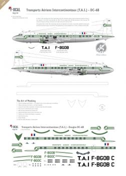 T.A.I. - Douglas DC-6B (Delivery scheme)