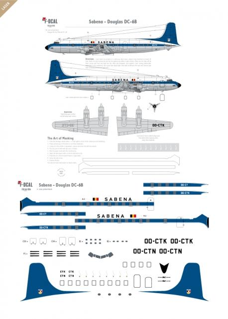 Sabena - Douglas DC-6B (Last scheme)