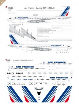 Air France (Barcode) - Boeing 707-328B/C