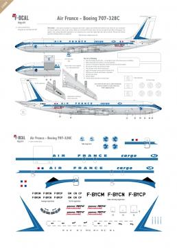 Air France (Shark tail Light) - Boeing 707-328C