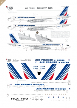 Air France (Barcode) - Boeing 707-328C