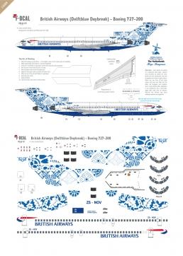 British Airways (Delftblue Daybreak) - Boeing 727-200
