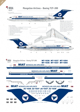 Mongolian (MIAT) - Boeing 727-200