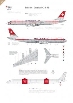 Swissair - Douglas DC-8-32 (Old colours)