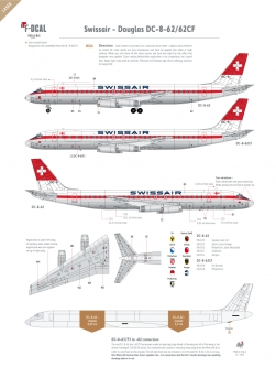Swissair - Douglas DC-8-62 (Old colours)