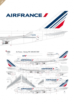 Air France - Boeing 747-400 (Barcode 2009)