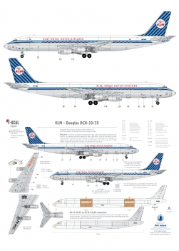 KLM - Douglas DC-8-33/53/55 (Diagonal stripes)