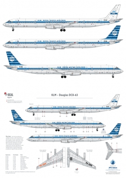 KLM - Douglas DC-8-63 (Horizontal stripes)