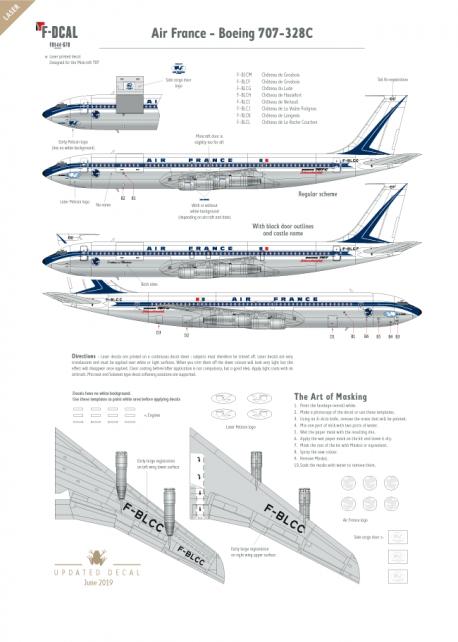Air France (Shark tail) - Boeing 707-328C