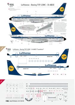 Lufthansa - Boeing 737-230C