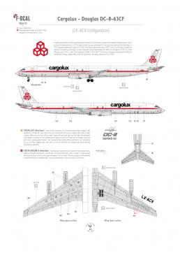 Cargolux - Douglas DC-8-63CF (Blanked windows)