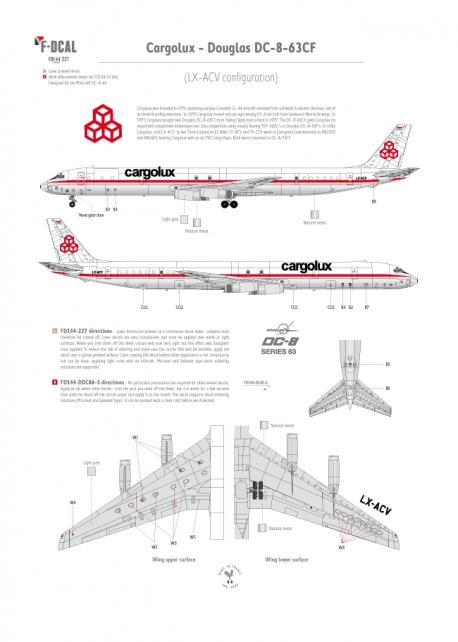 Cargolux - Douglas DC-8-63CF (Blanked windows)