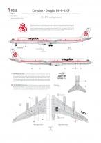 Cargolux - Douglas DC-8-63CF (Fenêtres occultées)
