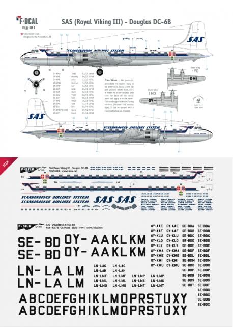 SAS - Douglas DC-6B (Royal Viking III)