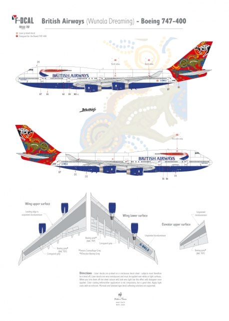 British Airways (Wunala Dreaming) - Boeing 747-400